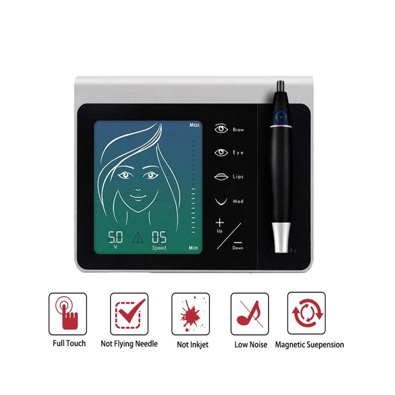 Digital Permanent Makeup Tattoo Machine Kit Set, Professional Tattoo Device Kit Siwss Motor Tattoo Power Supply for Eyebrow Lip
