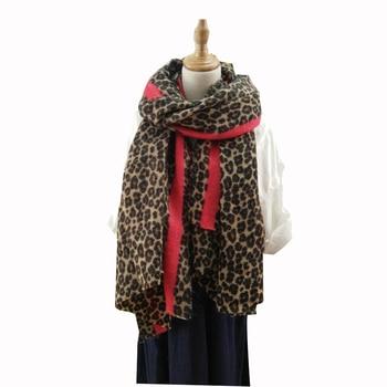 New 2018 designer animal print women winter warm scarf leopard fashion shawls foulard femme bandana 2018 shawl blanket LL181006