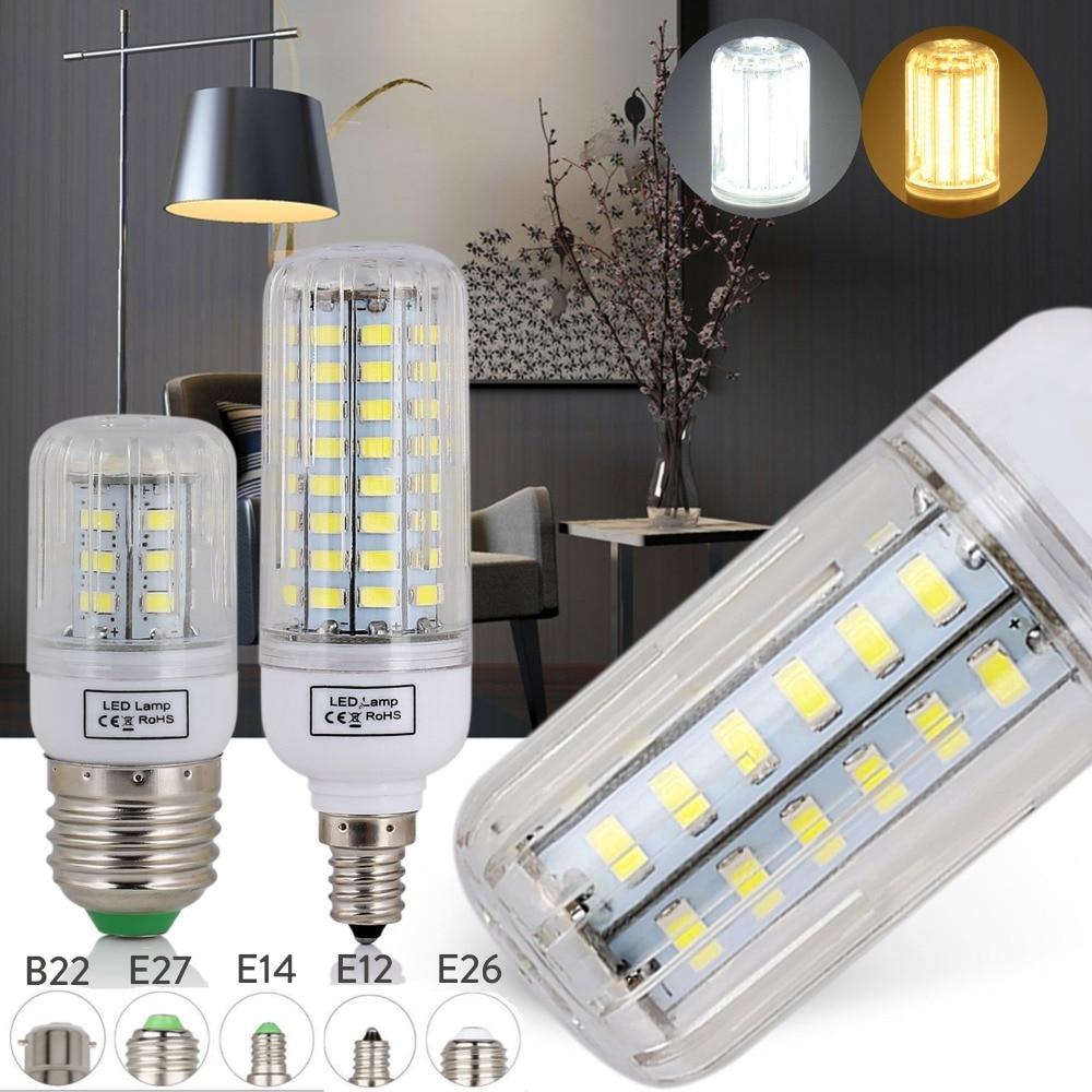 LED Lamp E27 E14 5730 SMD LED Bulb Corn 24 30 42 64 80 89 108 136 165Leds Lamp Bombillas Light Bulbs Lampada Ampoule Lighting