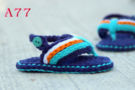 Free shipping Crochet Baby Shoes, Baby boy Flip Flops, Crochet Baby Shoes, Baby sandals