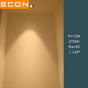 Image 4 - SCON AC110 240V restoran otel engineering7W/12W Led spot COB duvar yıkama lambası CRI Ra>93 modern iç mekan aydınlatması