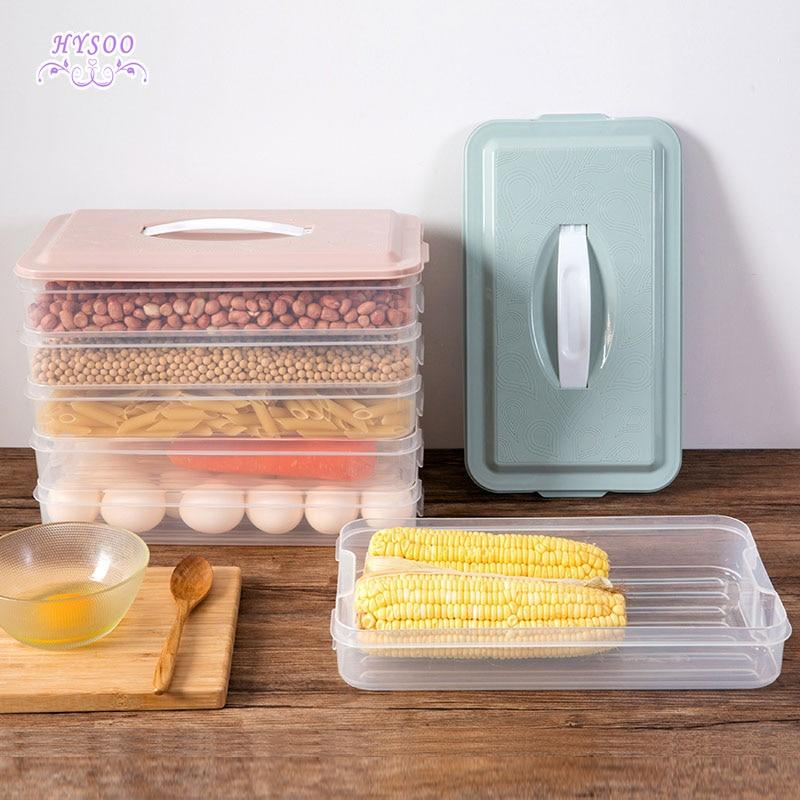 Multi - storey refrigerator crisper miscellaneous grains storage box home can be superimposed plastic food fruit storage box