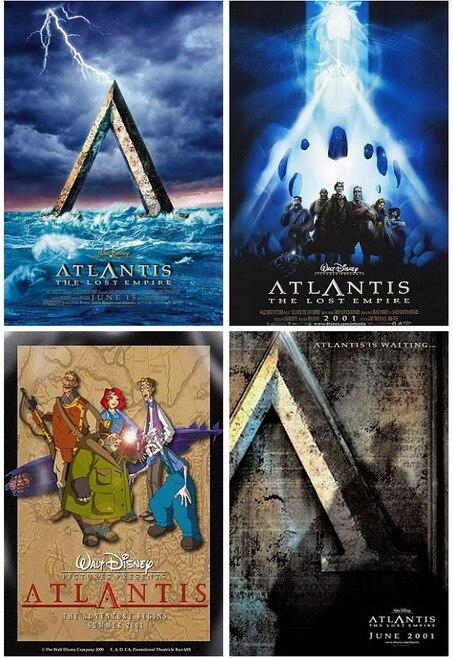 4 шт./компл. Atlantis Lost Empire фильм Почтовые открытки