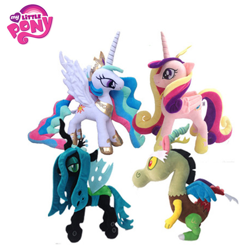 35-40cm My Little Pony Toy Stuffed Plush Doll Movie&TV Unicorn Princess Action Figure Toy Friendship Is Magic For Children Gift my little pony toys the movie princess cadance celestia pvc action figure friendship is magic model doll glitter celrbration