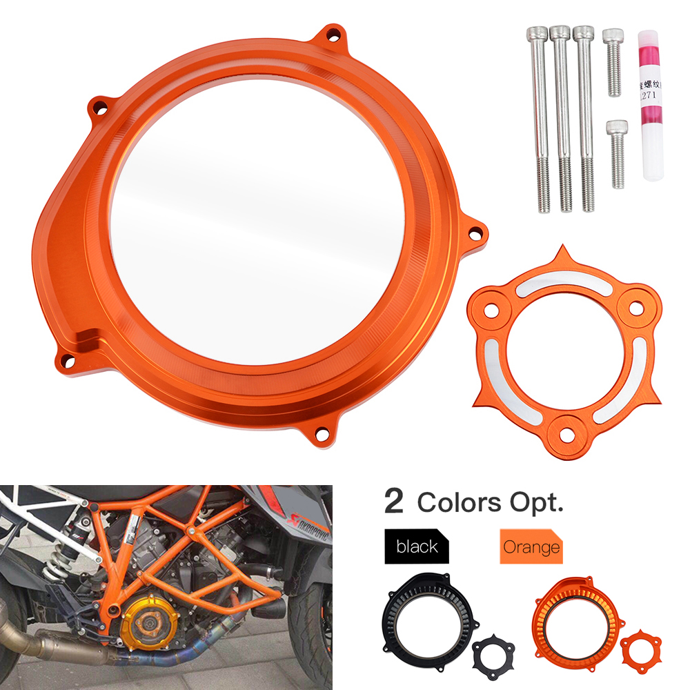 Motorcycle Transparent Clutch Cover Protector Guard For KTM 1050 1090 1190 1290 ADV Adventure Superduke Super