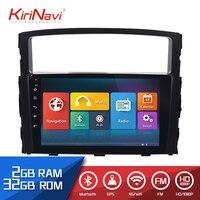 KiriNavi 2 din 9 Touch Screen Android Car Radio For Mitsubishi Pajero 2006 2015 Multimedia GPS Navigation Player audio WIFI MP4
