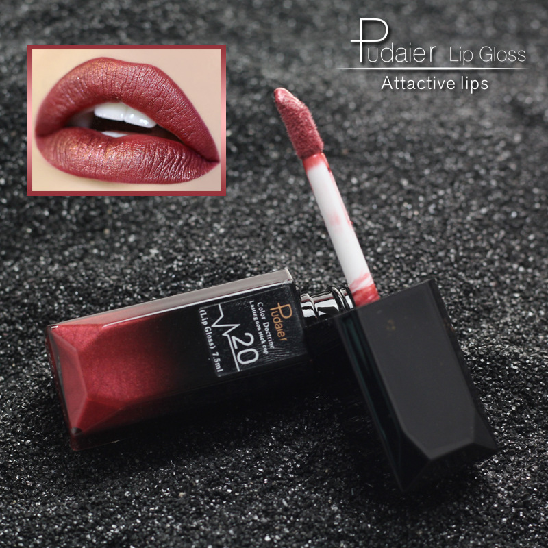 Pudaier 21 Colors Matte Non-stick Cup Does Not Fade Lip Gloss Long-lasting Liquid Lipstick Beauty Makeup Brand Cosmetic