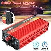 UKC Inverter 12V 220V 4000W 8000W Peak Modified Sine Wave Power Inverter DC12V to AC220V Voltage Transformer Converter USB