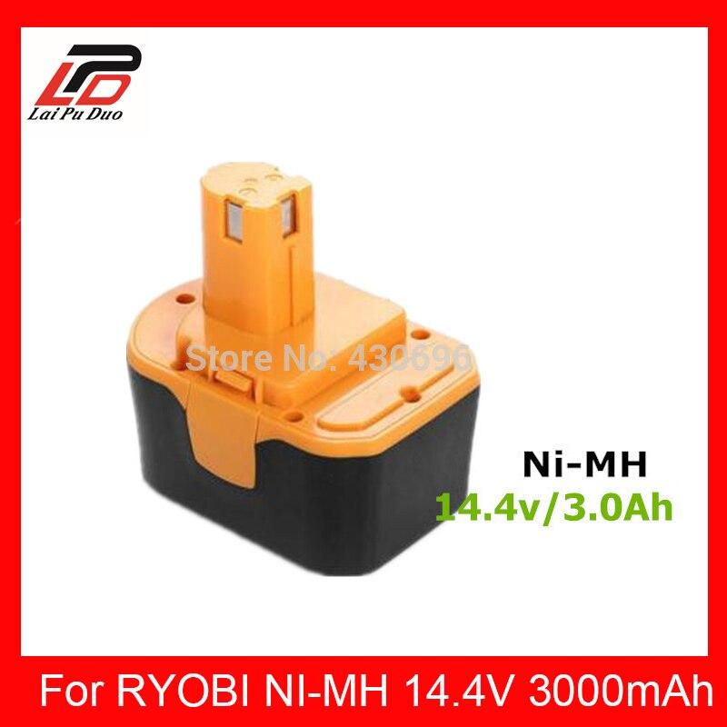 Batterie d'outil électrique de remplacement 14.4 V 3.0Ah Ni-MH pour RYOBI 1400144/1400655/1400656/1400671/130281002/130224010/130224011/4400011/