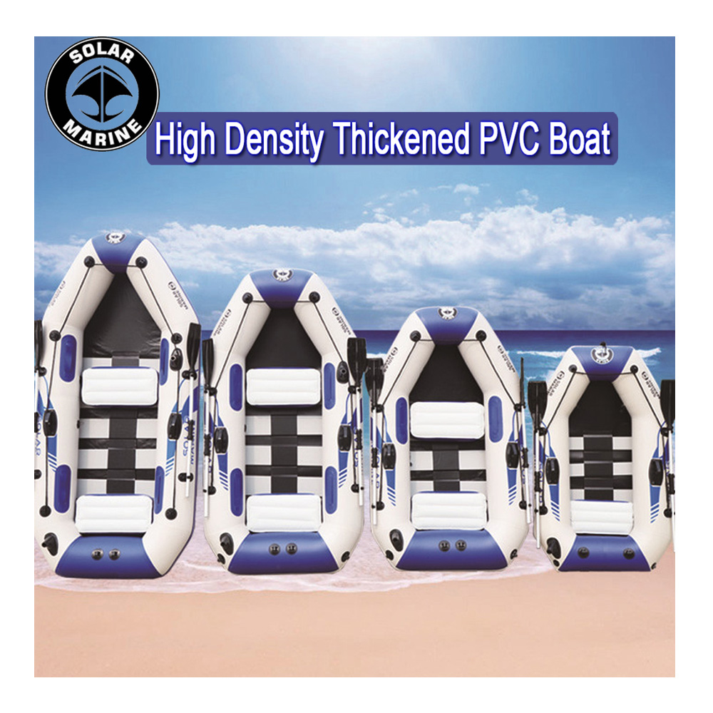 0.9MM PVC Inflatable Boat 3 Layer Inflatables Fishing Boats Laminated Wear-resistant Kayak Rubber Boat For Fishing