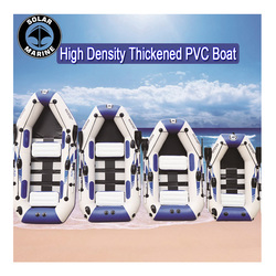Bateau gonflable de PVC de 0.9MM 3 bateaux de pêche gonflables de couche ont stratifié le bateau en caoutchouc résistant à l'usure de kayak pour la pêche