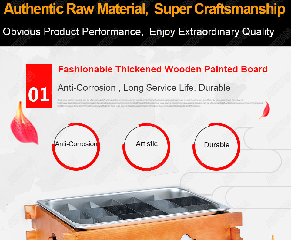 EH10/20/30 Commercial Stainless steel Kanto cooking machine with wooden decoration for kitchen equipment 7