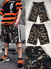 2019ss Palm Angels Track Shorts Over Size  Camouflage Shorts Men Justin Bieber Masculino Palm Angels Summer Short Streetwear FOG