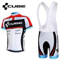 2017 NEW CUBE Đội xe đạp mặc thiết lập Mùa Hè ngắn tay đi xe đạp jerseys Ropa Ciclismo xe đạp quần áo