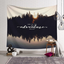 Nordic animals Landscape tapestry bedside bedroom wall hangings living room  wall hanging art fabric diy wall a081625b4a93