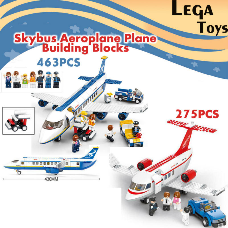 Building Blocks Sluban Bricks Toy City Town Passenger Airplane Airport Plane Set 275PCS/463PCS Air bus Plane Bricks Toys cut out rhinestone eye mask ring