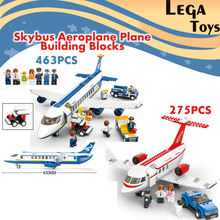 Building Blocks Sluban Bricks Toy City Town Passenger Airplane Airport Plane Set 275PCS/463PCS Air bus Plane Bricks Toys