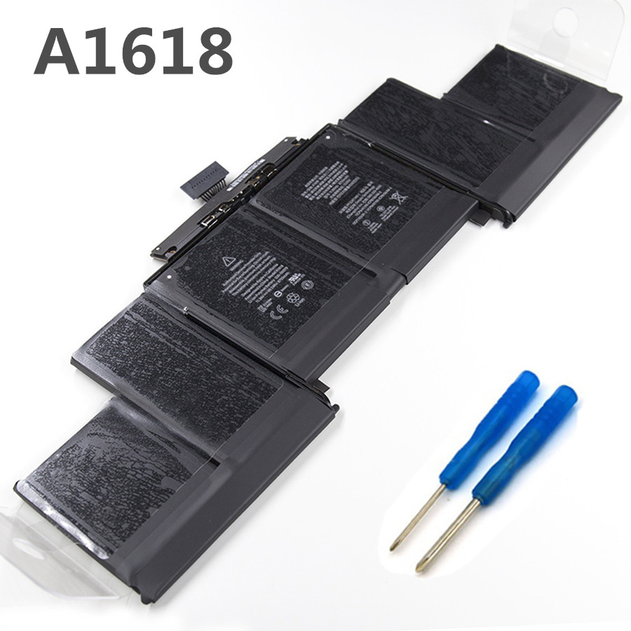 99.5Wh Brand New Laptop Battery A1618 for Macbook Pro Retina A1398 15'' 2015 Year Version A1618 A1398 Battery With Tool image