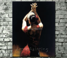 Spanish Flamenco Dancer painting latina woman Oil painting on canvas hight Quality Hand-painted Painting latina 03