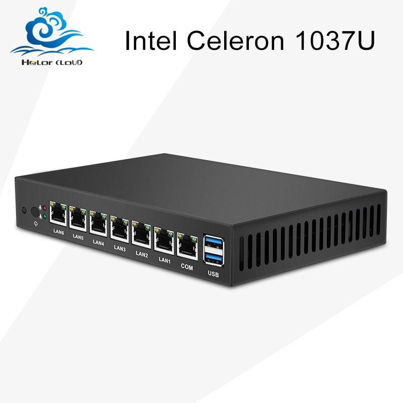 Mini PC Dual Core 6 Ethernet LAN Router Firewall Intel Celers