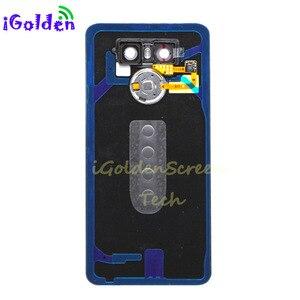 Image 2 - Tylna pokrywa dla Lg g6 pokrywa baterii obudowa drzwi obudowa z kamerą szklana soczewka identyfikator dotykowy zamiennik dla G6 LS993 US997 VS998 H870