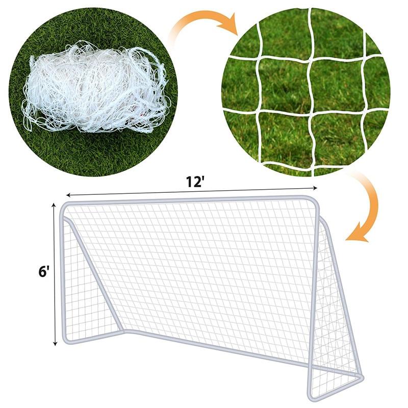 Soccer Goal Net Full Size 12 X 6ft Football Door Goal Nets For Sport Training Practice Match Training Mesh For Gates