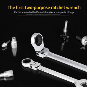 Image 5 - Car Repair Tool Set Ratchet wrench Universal Key Ratchet Spanners Wrench Sets  Hand Tools Ratchet Handle Wrenches Keys Set