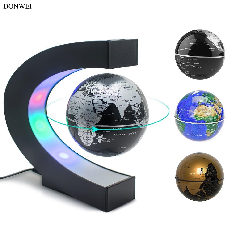 donwei levitacao magnetica globo antigravidade led night luz decoracao interior mapa do mundo de alta tecnologia