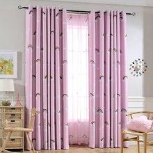Мультфильм Радуга облака печатных детские шторы тюль для детей гостиная спальня оконные драпировки кухня украшение для дома, для занавесок