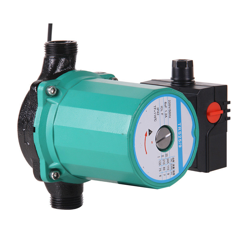Household heating hot water circulation pump to warm the ultra-quiet booster pump Central Heating Boiler air condition 100W 220v 0 75kw self priming water pump for high rise wells in the river lake 220v household jet garden pump 4 5m3 h big capacity