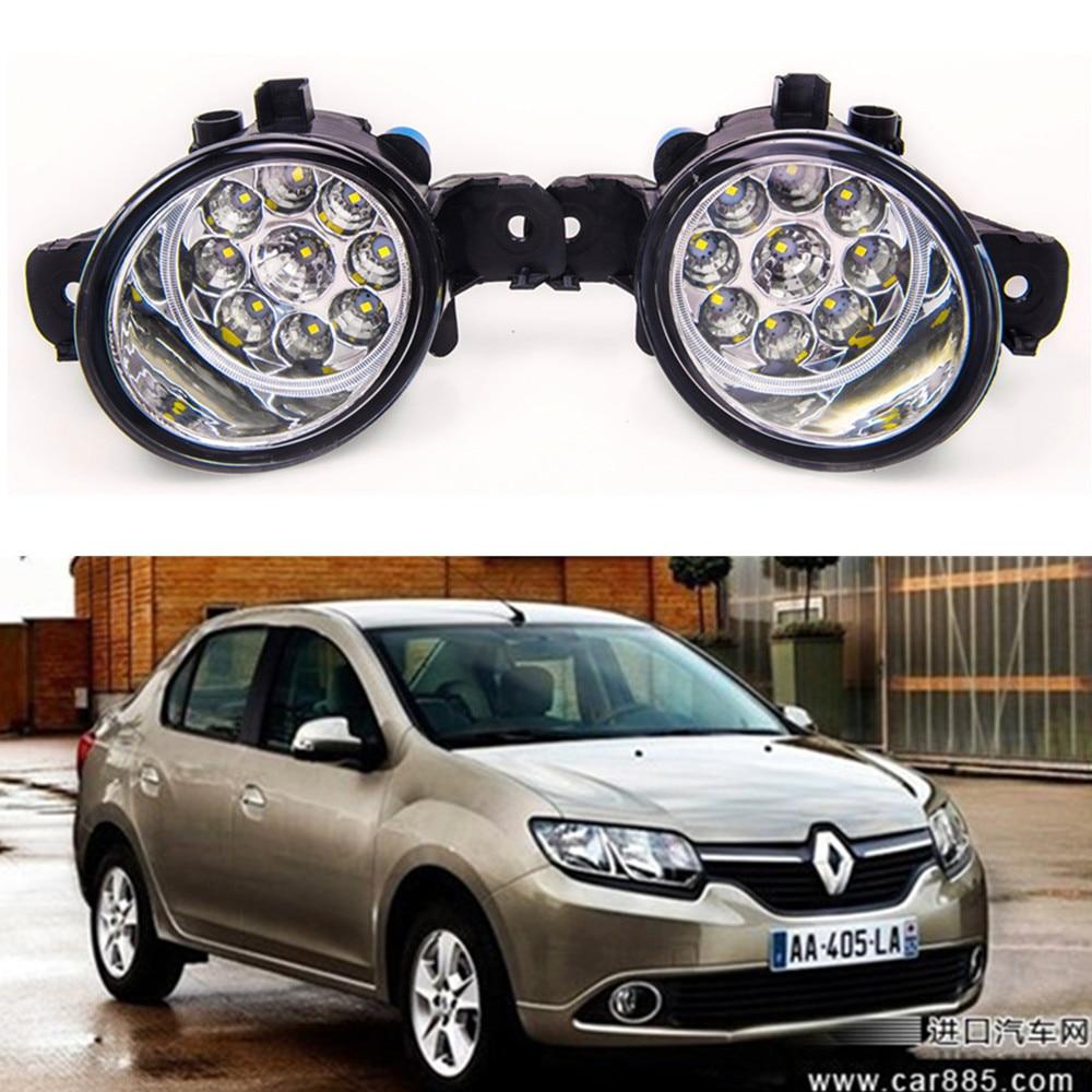 For Renault SYMBOL LB012  1998-2010 Car styling High brightness LED fog lights DRL lights 1SET symbol 1 8 cd06
