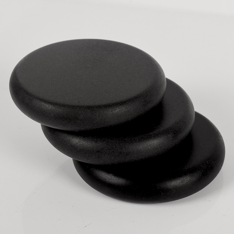 1pcs Massage Stones 80*80*16mm Natural Energy Stone Set Hot SPA Rocks Basalt Stone Therapy Stone Pain Relief Health Care Tool