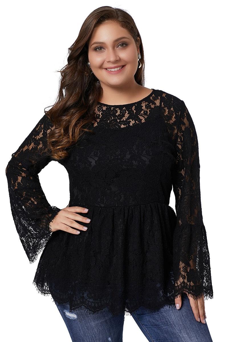 Black-Floral-Lace-Babydoll-Plus-Size-Top-LC251582-2-31555