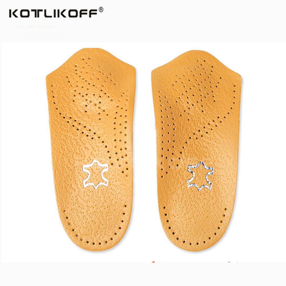KOTLIKOFF Half Arch Support Orthopedic Shoes Sole Insoles FlatFoot Correct 3/4 Length Feet Care Health Orthotics Insert Shoe Pad