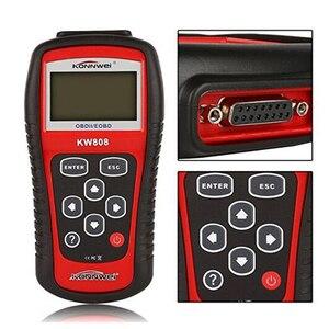 Image 4 - KONNWEI KW808 Xe Công Cụ Chẩn Đoán OBD2 Kích Hoạt động cơ phân tích Ô Tô Code Reader Scanner & New Phanh Chất Lỏng Chất Lỏng Tester