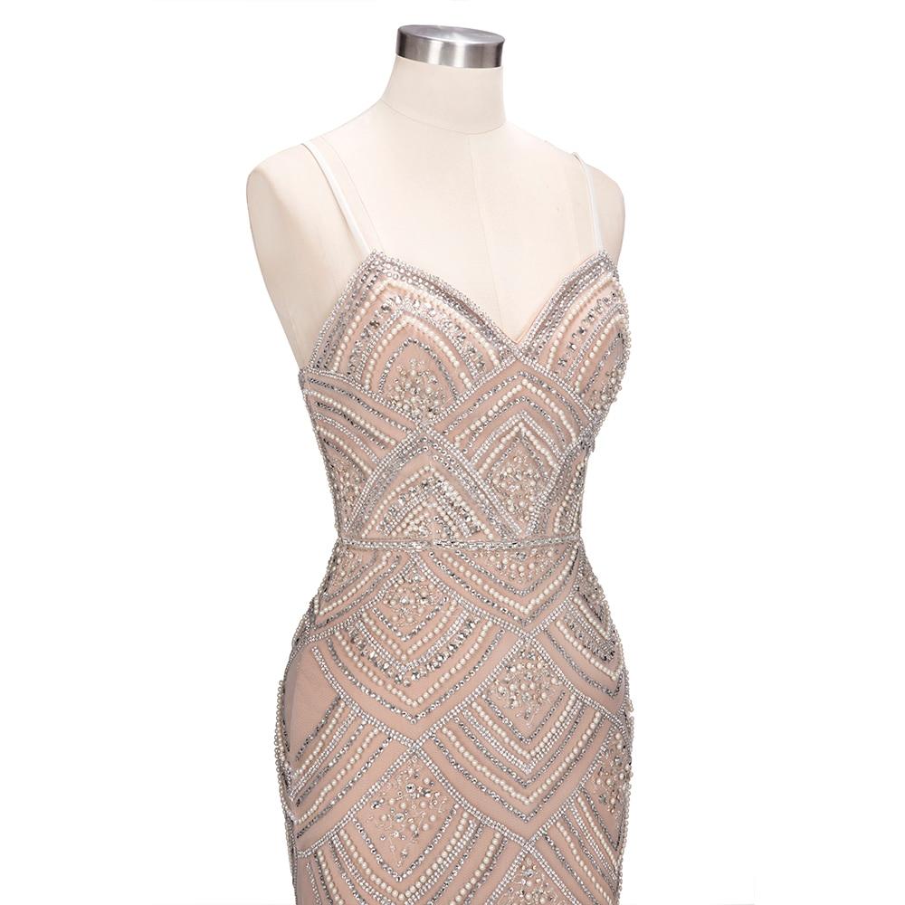 Image 5 - Luxury Dubai Beaded Pearls Mermaid Evening Dresses 2019 Spaghetti Straps Backless Formal Evening Party Dresses Gowns For Women-in Evening Dresses from Weddings & Events