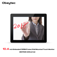 Obeytec 10.4 Industrial LCD Open Frame Projected Capacitive touch monitors, PCAP Touchscreen, 10 touch points