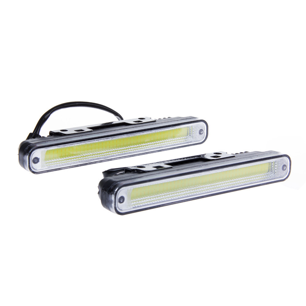 Wholesale 1pair 20cm Ultra-thin 12W COB LED Daytime Running Light LED DIY DRL Fog car lights with Protective tube and Stents 1pair ultra thin 17cm cob led car daytime running lights led drl waterproof daytime lights car styling parking free shipping