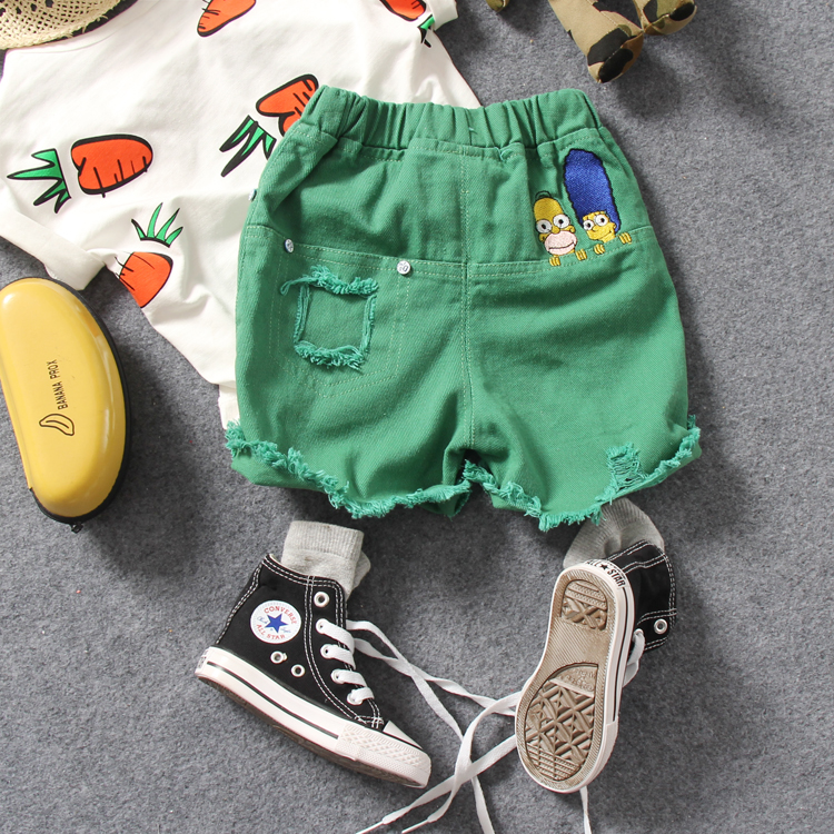 b010e473e3d only short pant 1pc new 2018 summer boys fashion cotton cartoon embroidery middle  pant boys summer trousers-in Pants from Mother   Kids on Aliexpress.com ...