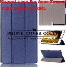 Cubierta de cuero elegante magnética de la pu case para asus zenpad 8.0 z380 z380c z380kl 8 pulgadas pulgadas tablet case + screen protector + stylus