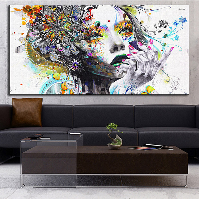 Dp Modern Wall Art With Flowers Oil Painting Prints On Canvas No Frame Pictures Decor For Living Room In Calligraphy From