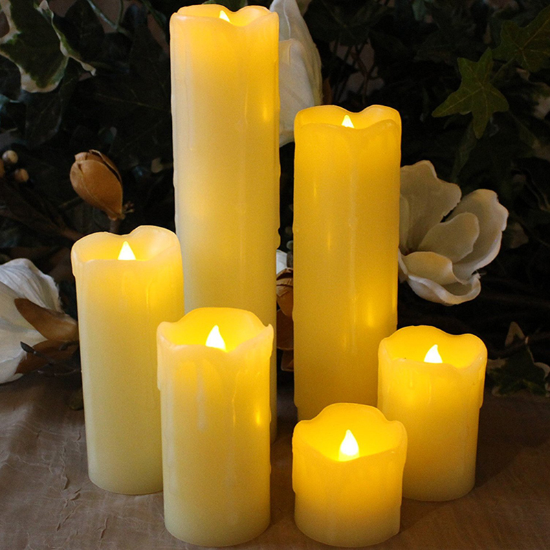 LED Electronic Flameless Candle Lights AAA Battery-Powered Simulation Flame Flashing Candle Lamps for Valentine's Day Party pzcd my 22 flickering flameless led paraffin wax candle for party decoration beige 3 x aaa