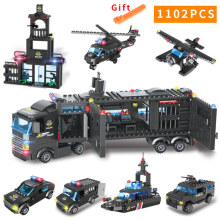 8 in 1/6 1 City Police Series Building Blocks LegoING SWAT Team Bricks Station/Warship/Robot Role Play Learning Toys