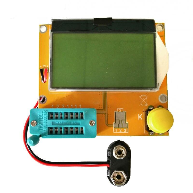 LCR-T4 Mega328 M328 Multimeter LCD Backlight Transistor Tester Diode Triode Capacitance ESR Meter MOS PNP NPN LCR  lcr esr meter mega328 digital combo transistor tester diode triode inductor capacitance resistor mos pnp npn test clip