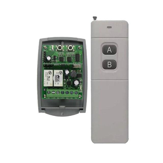 Long Distance Transmitter 200M 3000M AC DC 12V 24V 36V 2 CH 8A Mini Receiver Wireless Remote Control Switch 315mhz/433mhzSystem