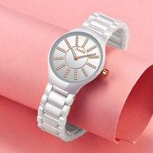 цена на Watches Women Fashion Watch 2019 Luxury Brand Quartz Watch Lady Ceramics Stainless Steel Women's Watches Relogio Feminino Clock