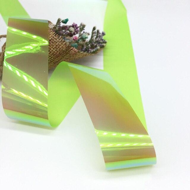 1 boîte Holo Nail Art étoilé herbe papier autocollant Aurora couleur bonbon ongles décalcomanies UV Gel bricolage ongles conseils couverture décorée manucure outils