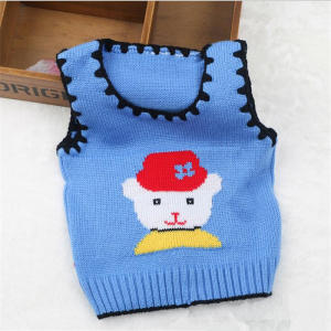 Vest Baby Baby-Boys-Girls Winter Sweater Cartoon 0-12M Clothing Outerwear Infant