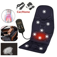 Overvalue Useful Multifunctional Car Chair Body Massage Heat Mat Seat Cover Cushion Neck Pain Lumbar Support Pad Back