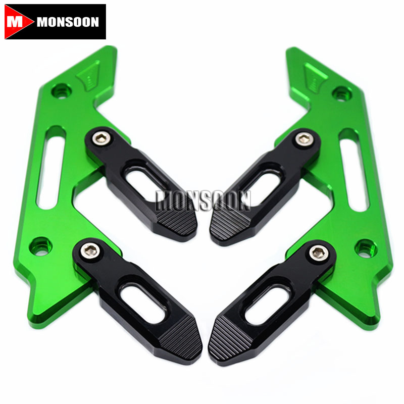 For KAWASAKI Z800 2013-2016 Z1000 2014-2017 Motorcycle Accessories Front Fender Frame Slider Fork Protector for kawasaki kle 650 1000 versys klr650 zrx1200 gtr1400 concours motorcycle front fender fork protector frame slider screw 6mm b